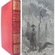 Libros antiguos: 1890 - VICTOR HUGO: NAPOLEÓN III. SEGUNDO IMPERIO FRANCÉS, PANFLETO POLÍTICO. ENORME LIBRO ILUSTRADO. Lote 185773862