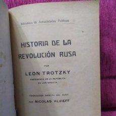 Libros antiguos: 1919. HISTORIA DE LA REVOLUCIÓN RUSA. LEON TROTZKY. . Lote 186043028