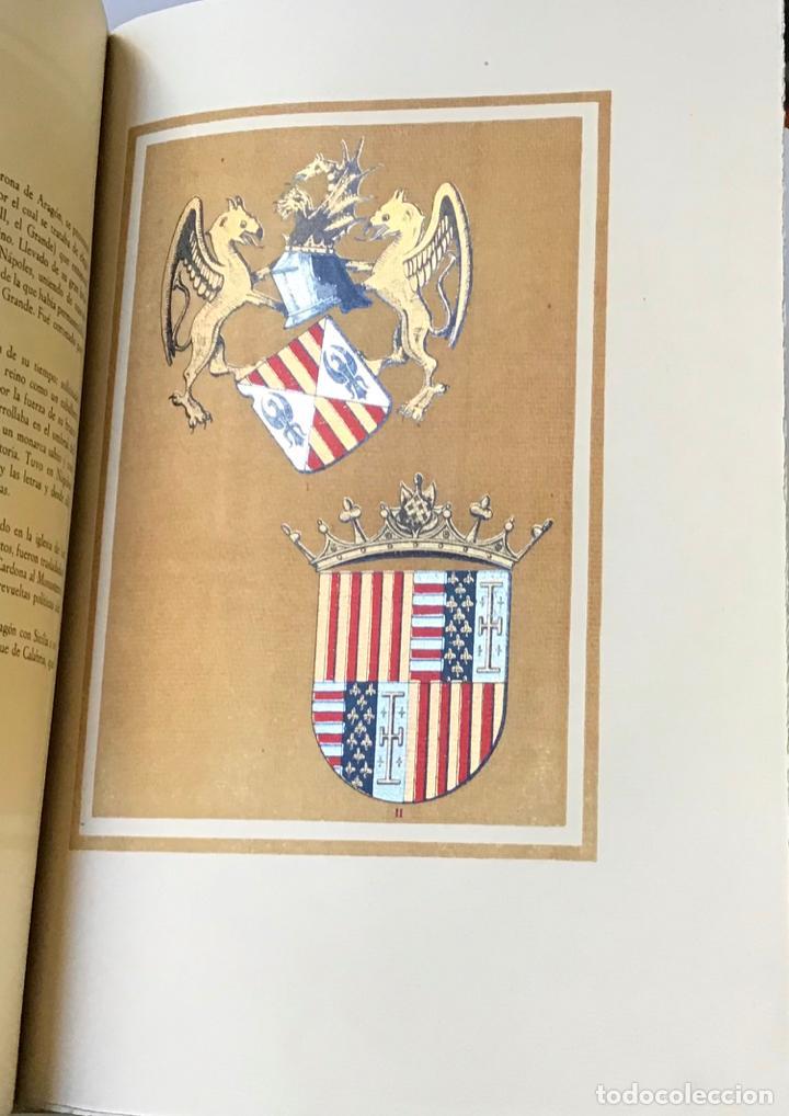 Libros antiguos: NOBILIARIO DE LA CORONA DE ARAGÓN. CASA REAL. Edición de 300 ejemplares. MIRALBELL CONDEMINAS - Foto 6 - 187155626