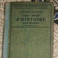 Libros antiguos: COURSE ABRÉGÉ D'HISTOIRE 1920 ALBERT MALET, JULES ISAAC . Lote 187435796