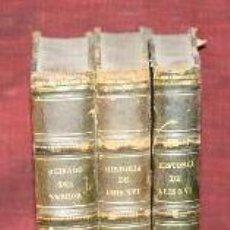Libros antiguos: HISTORIA DE LUIS XVI Y MARIA ANTONIETA. ALEJANDRO DUMAS.IMP. BASSAS.1861. 3 VOL.. Lote 187833320