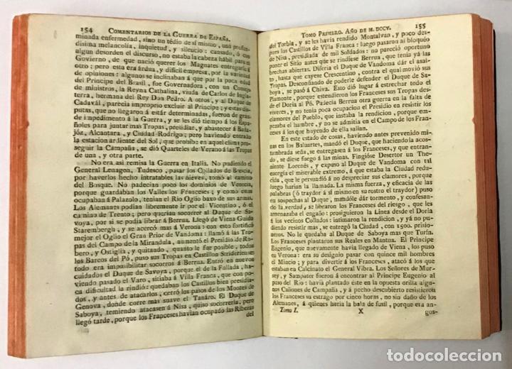 Libros antiguos: COMENTARIOS DE LA GUERRA DE ESPAÑA, E HISTORIA DE SU REY PHELIPE V. EL ANIMOSO, DESDE EL PRINCIPIO D - Foto 4 - 189363177