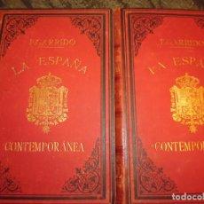 Libros antiguos: LA ESPAÑA CONTEMPORANEA, F.GARRIDO, 2 TOMOS,TELA. 1896, 1242 PP. 27X18, ALGUNA ILUSTRACION **511. Lote 189587028