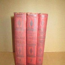 Libros antiguos: HISTORIA DE LA REVOLUCIÓN FRANCESA J MICHELET 1898-1898-1900 TRES TOMOS COMPLETA, EN MAL ESTADO.. Lote 189884508