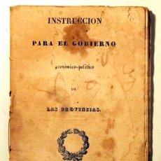 Libros antiguos: INSTRUCCIÓN PARA EL GOBIERNO ECONÓMICO-POLÍTICO DE LAS PROVINCIAS - GERONA 1836. Lote 190802576