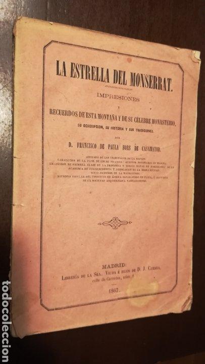 LA ESTRELLA DEL MONTSERRAT. LIBRO DE 1867. (Libros antiguos (hasta 1936), raros y curiosos - Historia Moderna)