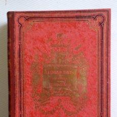 Libros antiguos: REVOLUCION FRANCESA-HISTORIA DE LOS GIRONDINOS 2 TOMOS-LAMARTINE-SALVATELLA-1888-LUJO. Lote 191504726