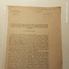 Libros antiguos: LA CATALUNYA DEL SEGLE XVIII I LA LLUITA CONTRA L'ABSOLUTISME... ERNEST LLUCH.1970. DEDICADO. Lote 194073053