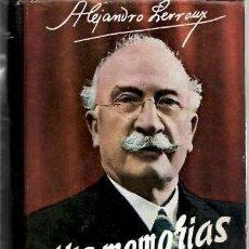 Libros antiguos: MIS MEMORIAS, ALEJANDRO LERROUX. . Lote 194089175