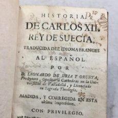 Libros antiguos: HISTORIA DE CARLOS XII REY DE SUECIA TOMO 2 MADRID 1741 TRADUCCIÓN LEONARDO URIA ORUETA, PLENA PIEL.. Lote 194561252