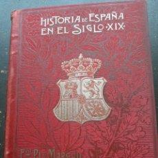 Libros antiguos: COLECCIÓN HISTORIA DE ESPAÑA PI MARGALL 8TOMOS. Lote 194737205