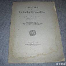 Libros antiguos: LIBRITO LA TAULA DE VALENCIA 1925. Lote 194760112