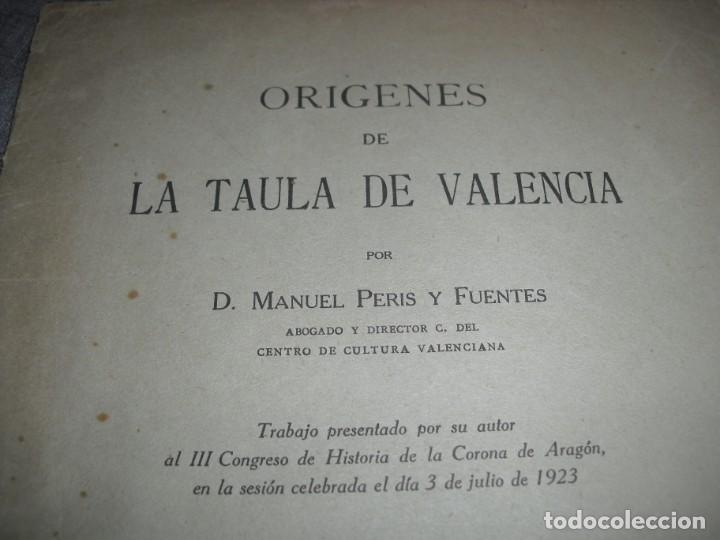 Libros antiguos: LIBRITO LA TAULA DE VALENCIA 1925 - Foto 2 - 194760112
