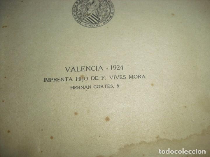 Libros antiguos: LIBRITO LA TAULA DE VALENCIA 1925 - Foto 3 - 194760112