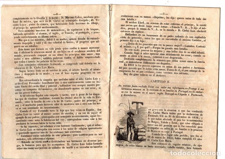 Libros antiguos: HISTORIA BIOGRAFICA DEL CONDE DE MONTEMOLIN, APELLIDADO CARLOS VI POR SUS PARTIDARIOS. 1849 - Foto 2 - 194760870