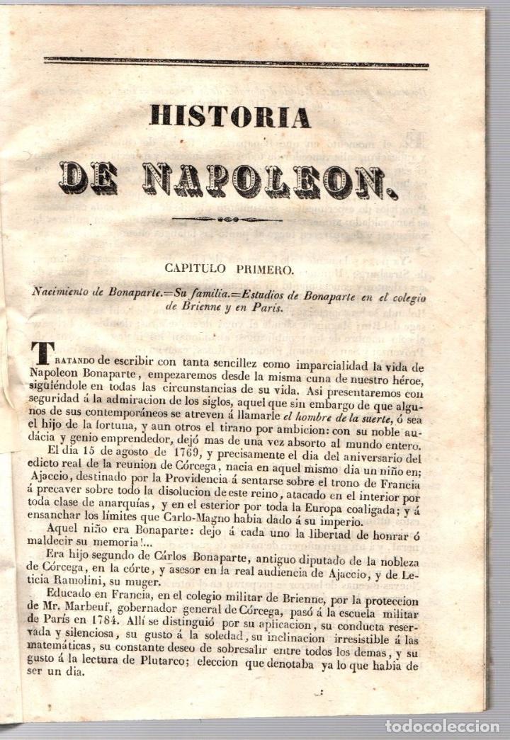 Libros antiguos: HISTORIA DE NAPOLEON, EMPERADOR DE LOS FRANCESES. 1846 - Foto 2 - 194761307