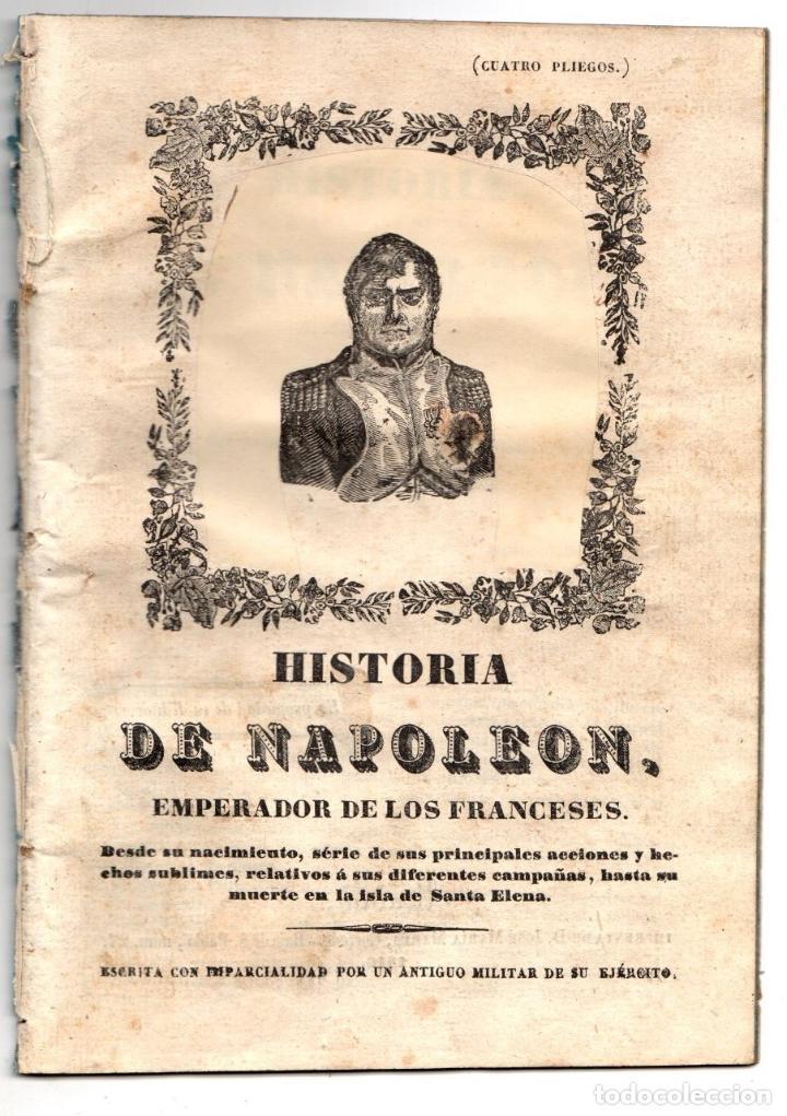 HISTORIA DE NAPOLEON, EMPERADOR DE LOS FRANCESES. 1846 (Libros antiguos (hasta 1936), raros y curiosos - Historia Moderna)