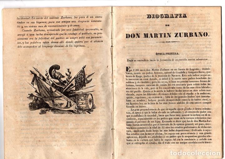 Libros antiguos: BIOGRAFIA DE DON MARTIN ZURBANO. REGENCIA DE ESPARTERO. 1847 - Foto 2 - 194763222