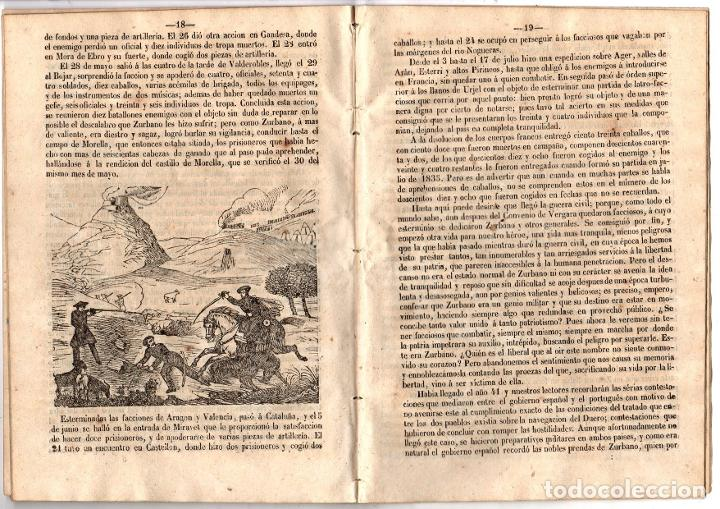 Libros antiguos: BIOGRAFIA DE DON MARTIN ZURBANO. REGENCIA DE ESPARTERO. 1847 - Foto 4 - 194763222