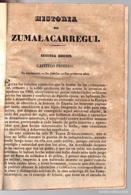 Libros antiguos: HISTORIA MILITAR Y POLITICA DE DON TOMAS ZUMALACARREGUI. SUCESOS PROVINCIAS DEL NORTE. 1848 - Foto 2 - 194763795