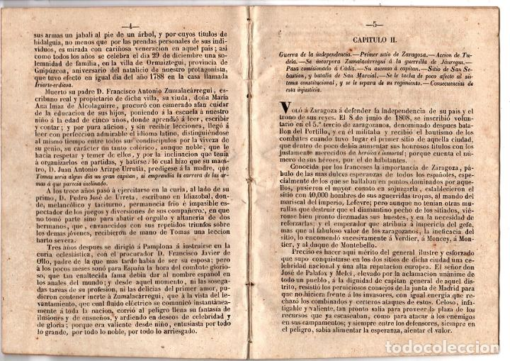 Libros antiguos: HISTORIA MILITAR Y POLITICA DE DON TOMAS ZUMALACARREGUI. SUCESOS PROVINCIAS DEL NORTE. 1848 - Foto 3 - 194763795