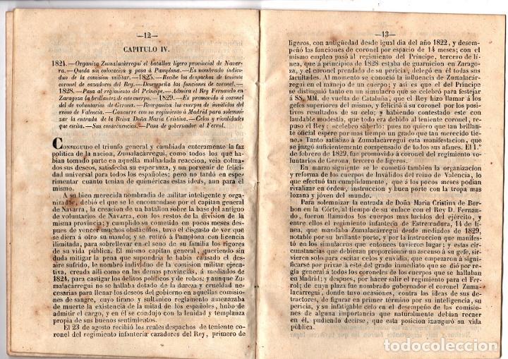Libros antiguos: HISTORIA MILITAR Y POLITICA DE DON TOMAS ZUMALACARREGUI. SUCESOS PROVINCIAS DEL NORTE. 1848 - Foto 4 - 194763795