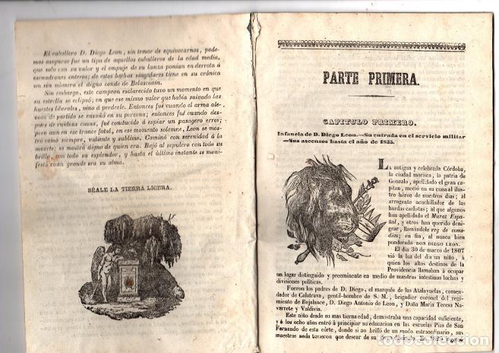 Libros antiguos: HISTORIA DE D. DIEGO LEON, PRIMER CONDE DE BELASCOAIN. 1847 - Foto 2 - 194765243