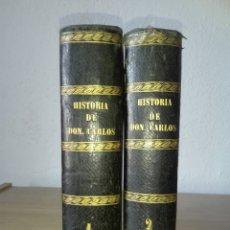 Libros antiguos: HISTORIA DE DON CARLOS DE BORBON Y DE ESTE , Y DE SU AUGUSTA FAMILIA.. Lote 194967567