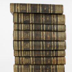 Libros antiguos: HISTORIA UNIVERSAL, CÉSAR CANTÚ, 10 TOMOS, IMP. GASPAR Y ROIG, MADRID. 27,5X18,5CM. Lote 195093558