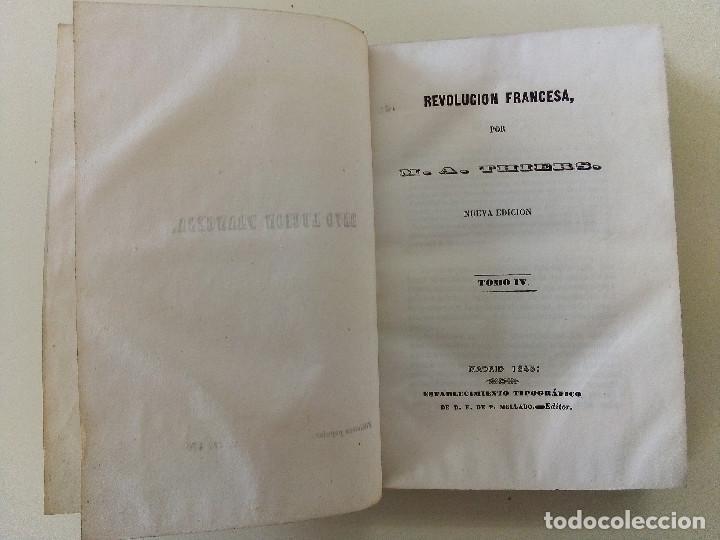 Libros antiguos: LA REVOLUCION FRANCESA- LOTE DE 5 TOMOS-M. A. THIERS-TAPA DURA-ANTIGUOS-ED. P. MELLADO- AÑO 1845 - Foto 4 - 196265565
