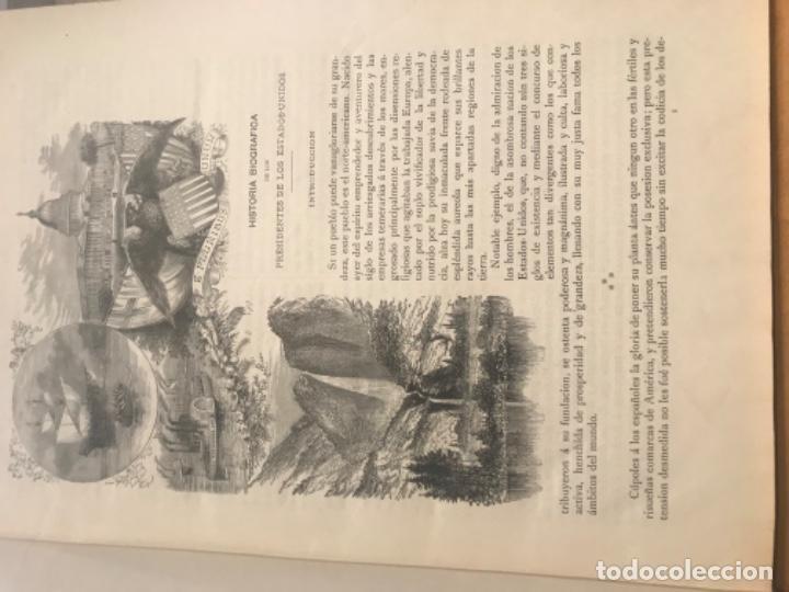 Libros antiguos: 1885. Historia Biográfica de los Presidentes de Estados Unidos. Leopoldo Verneuill. - Foto 4 - 196759908