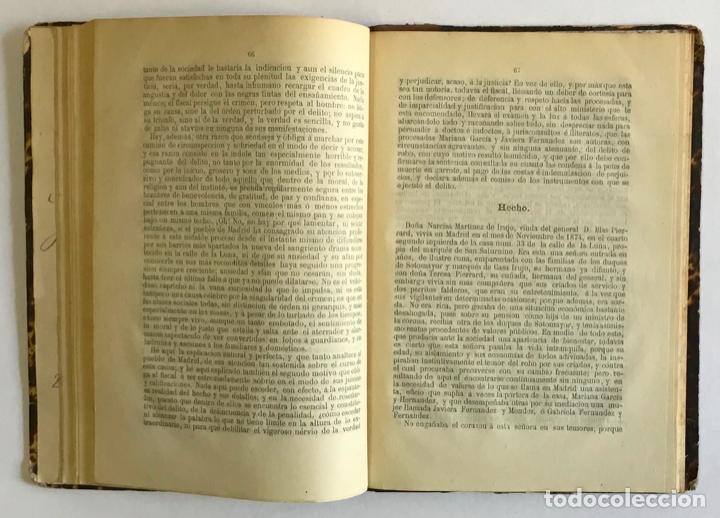 Libros antiguos: EL PROCESO DE LA CALLE DE LA LUNA. ASESINATO Y ROBO DE LA EXCMA. SRA. DOÑA NARCISA MARTÍNEZ DE IRUJO - Foto 4 - 196979266