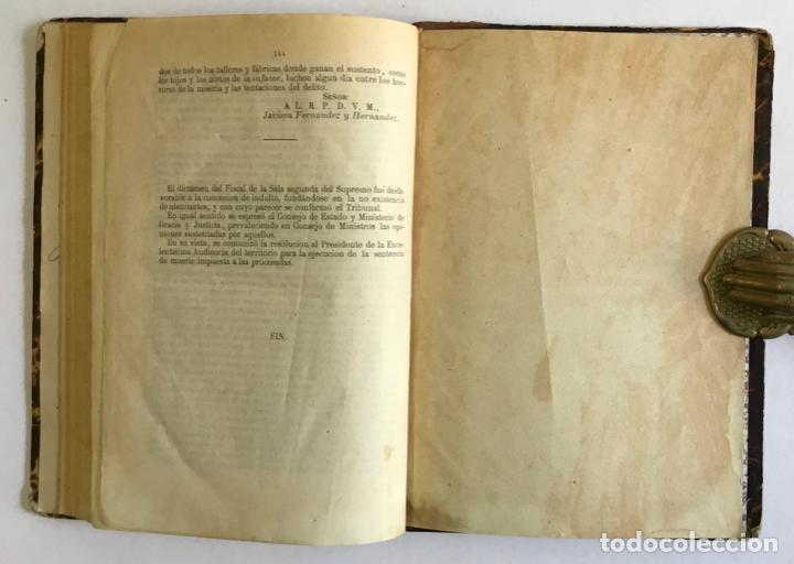 Libros antiguos: EL PROCESO DE LA CALLE DE LA LUNA. ASESINATO Y ROBO DE LA EXCMA. SRA. DOÑA NARCISA MARTÍNEZ DE IRUJO - Foto 5 - 196979266