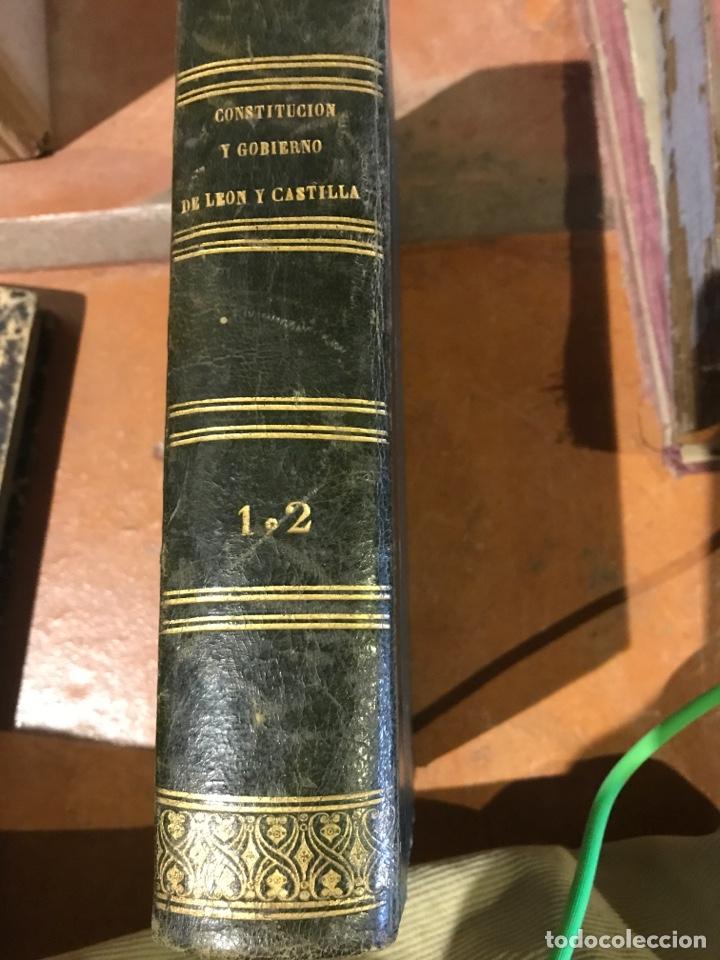 Libros antiguos: De la Constitución y del gobierno de los reinos de Castilla y León por Manuel Colmeiro - Foto 2 - 198093621
