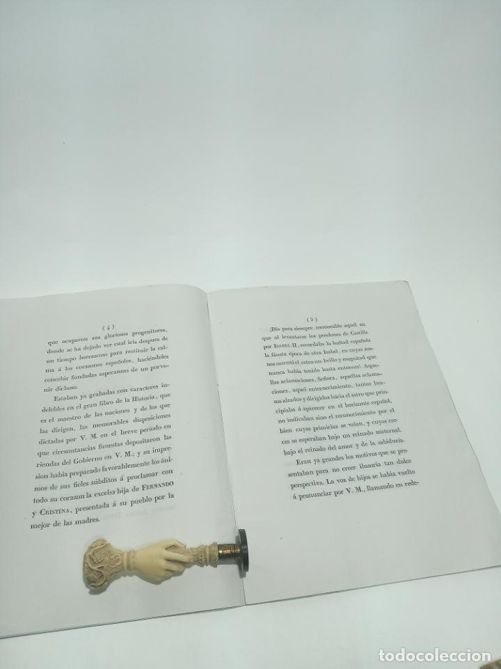 Libros antiguos: Oración de la real academia de la historia a su magestad la reina gobernadora con motivo de la solem - Foto 3 - 198490212