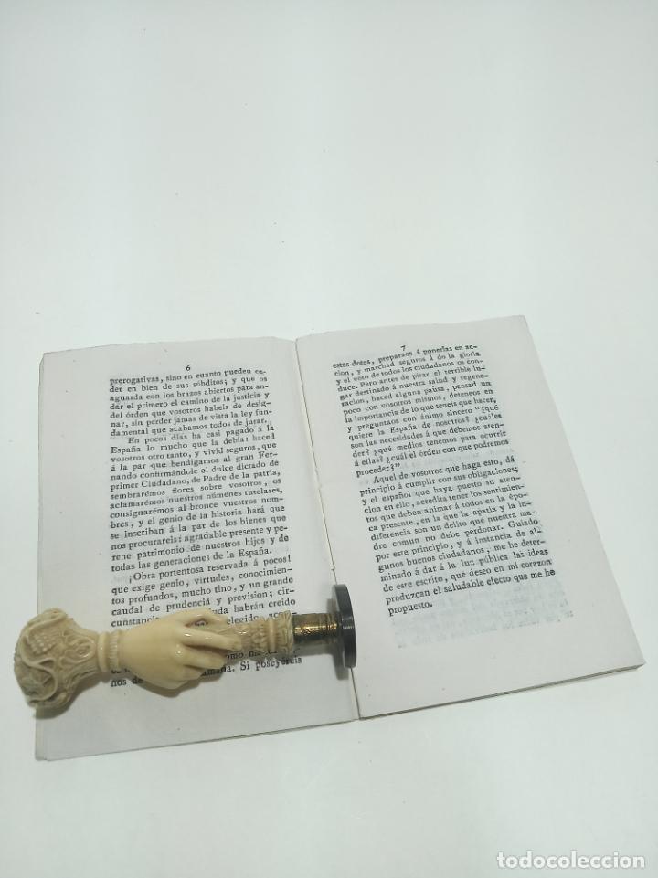 Libros antiguos: Lo que espera La España de sus representantes en el próximo congreso nacional. D.M.A.L. 1820. - Foto 3 - 198491818