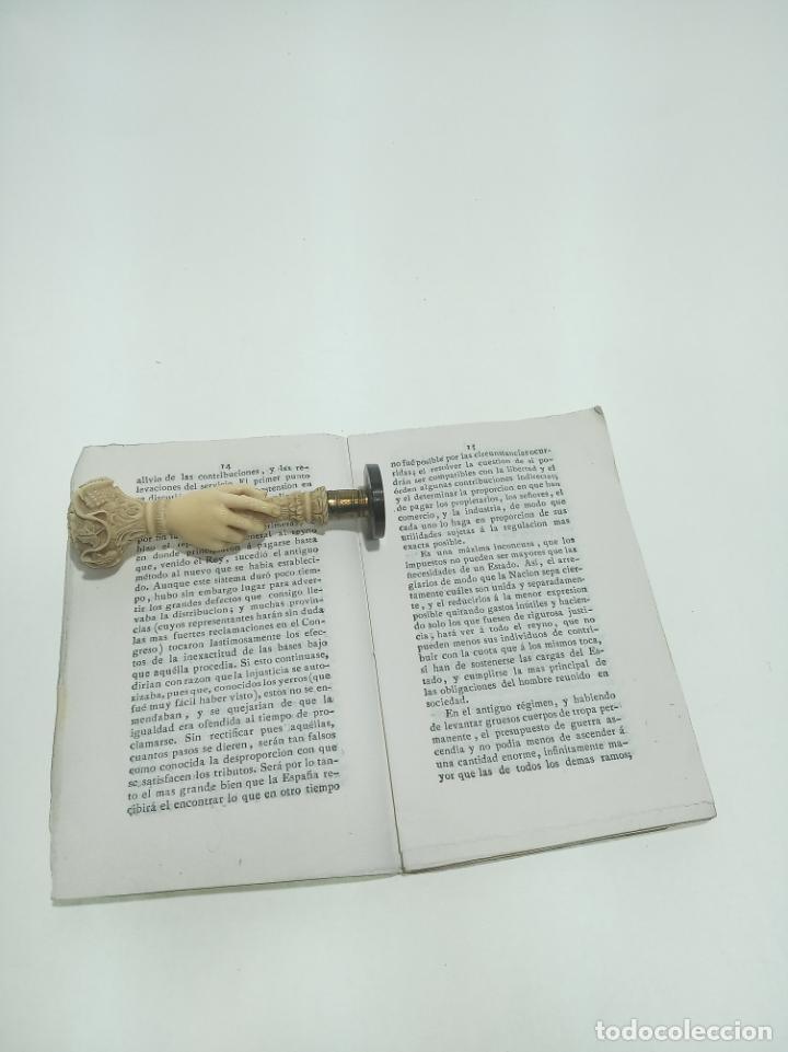 Libros antiguos: Lo que espera La España de sus representantes en el próximo congreso nacional. D.M.A.L. 1820. - Foto 3 - 198491873