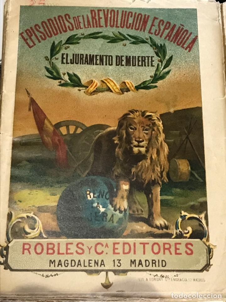 Libros antiguos: Episodios de la revolución española dos ejemplares - Foto 2 - 198979067