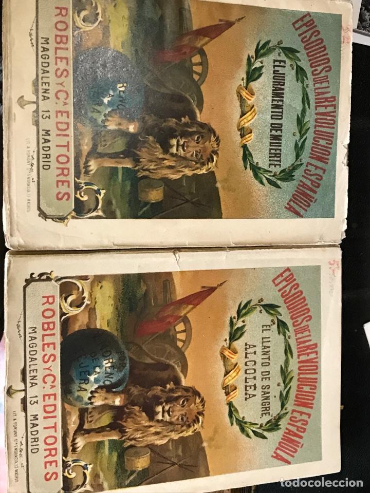 EPISODIOS DE LA REVOLUCIÓN ESPAÑOLA DOS EJEMPLARES (Libros antiguos (hasta 1936), raros y curiosos - Historia Moderna)
