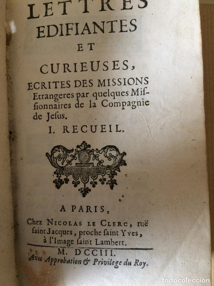 CARTAS EDIFICANTES (MISIONEROS JESUITAS) (Libros antiguos (hasta 1936), raros y curiosos - Historia Moderna)