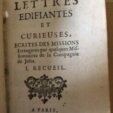 Libros antiguos: CARTAS EDIFICANTES (MISIONEROS JESUITAS). Lote 200197213