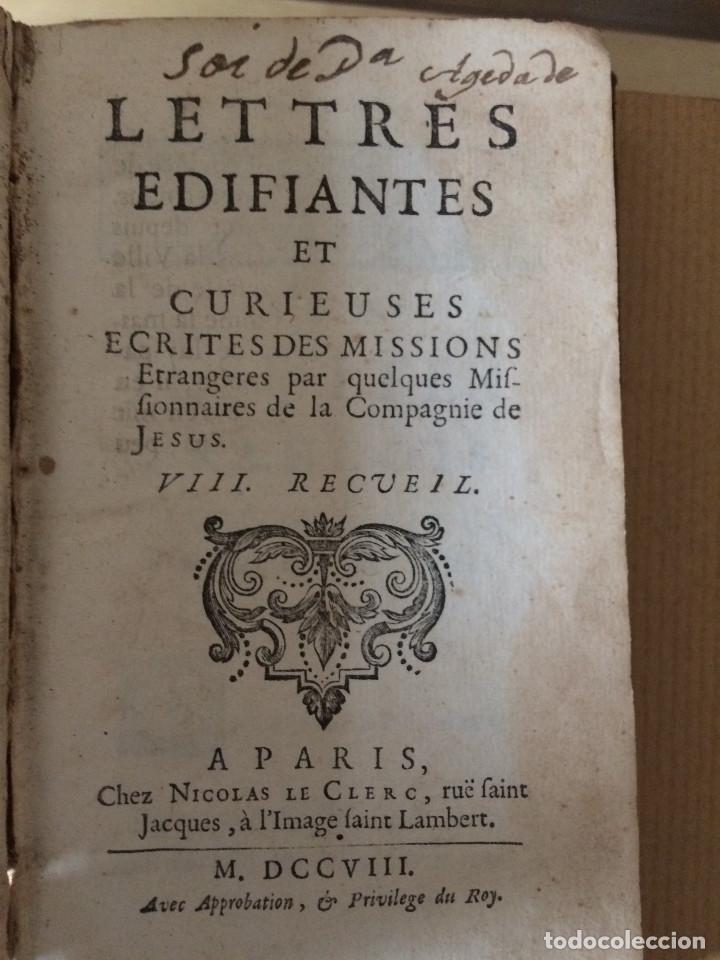 Libros antiguos: CARTAS EDIFICANTES (MISIONEROS JESUITAS) - Foto 11 - 200197213