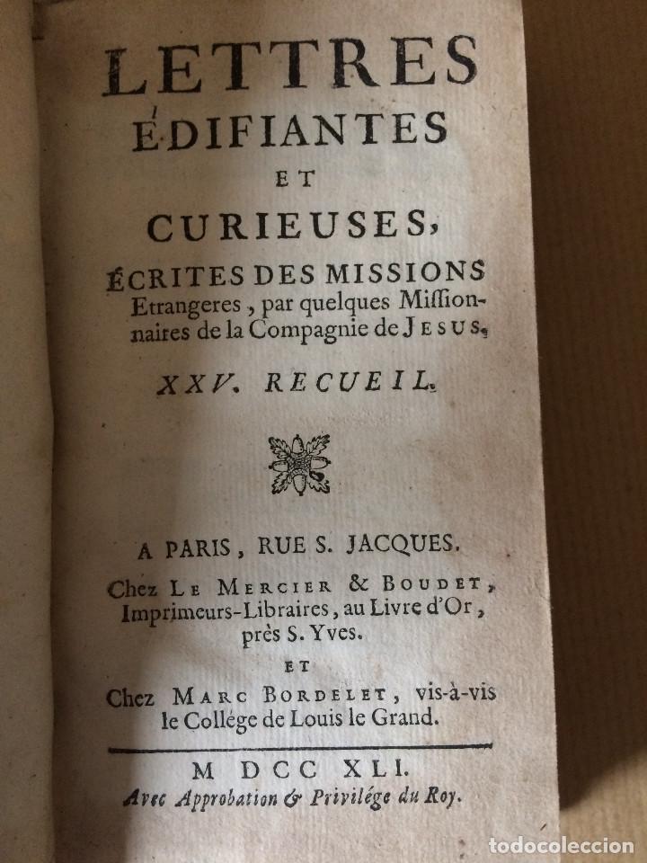 Libros antiguos: CARTAS EDIFICANTES (MISIONEROS JESUITAS) - Foto 13 - 200197213
