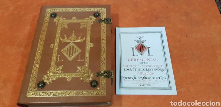 Libros antiguos: CEREMONIAL DE LAS ASSISTENCIAS Y FUNCIONES VALENCIA,FACSIMIL. - Foto 3 - 201485433