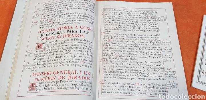 Libros antiguos: CEREMONIAL DE LAS ASSISTENCIAS Y FUNCIONES VALENCIA,FACSIMIL. - Foto 8 - 201485433