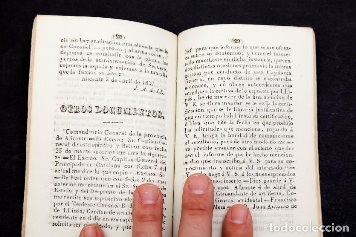 Libros antiguos: DOBLE DEPORTACION DE LLINÁS - ALICANTE - 1837 - 1ª ED. - muy raro - Foto 6 - 111803623