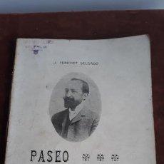 Libros antiguos: PASEO DE LA GLORIETA DE VALENCIA J. PENICHET DELGADO VALENCIA 1905. Lote 204155590