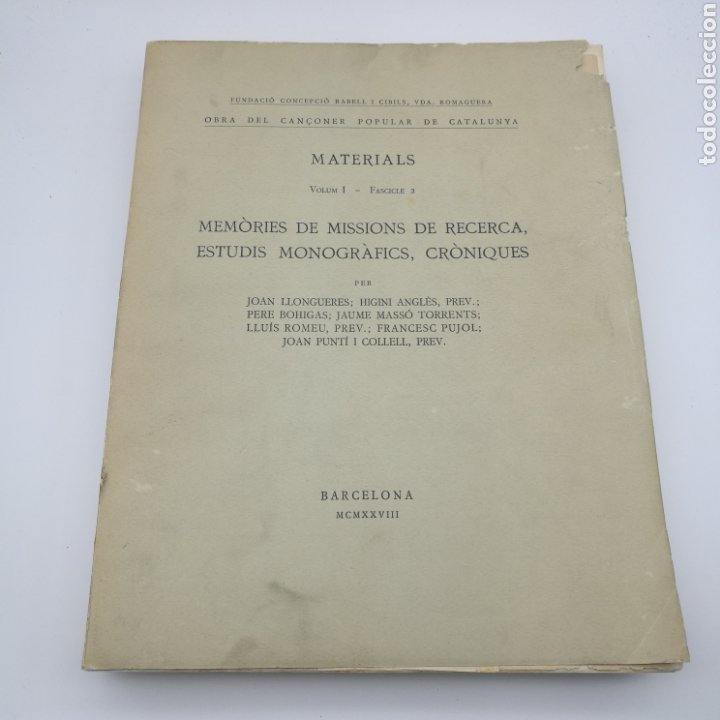 Libros antiguos: Obra del cançoner popular Catalunya 3 volums 1928 1929 - Foto 2 - 204328670