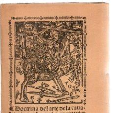 Livros antigos: DOCTRINA DEL ARTE DE LA CAVALLERIA. JUAN QUIJADA DE REAYO, C. 1875. Lote 204777992