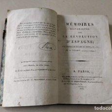 Libros antiguos: MÉMOIRES HISTORIQUES SUR LA RÉVOLUTION D'ESPAGNE - M. DE PRADT - AÑO 1816. Lote 205299132
